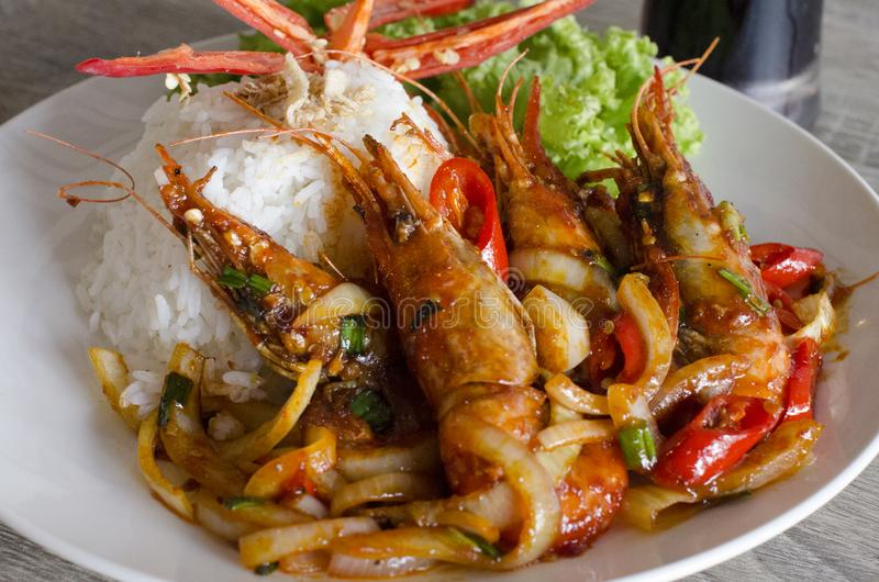 Prawn Rice royalty free stock photo