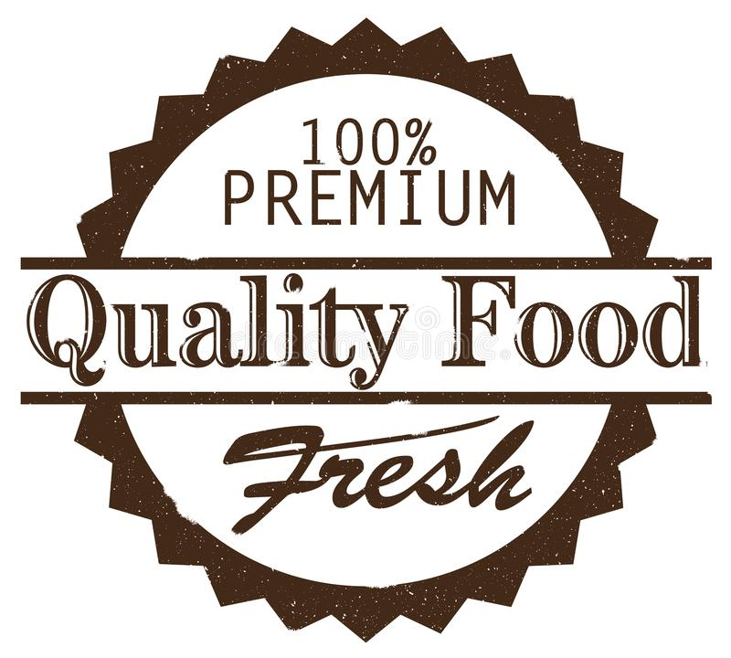 Fresh premium quality food grungy rubber stamp vector illustration
