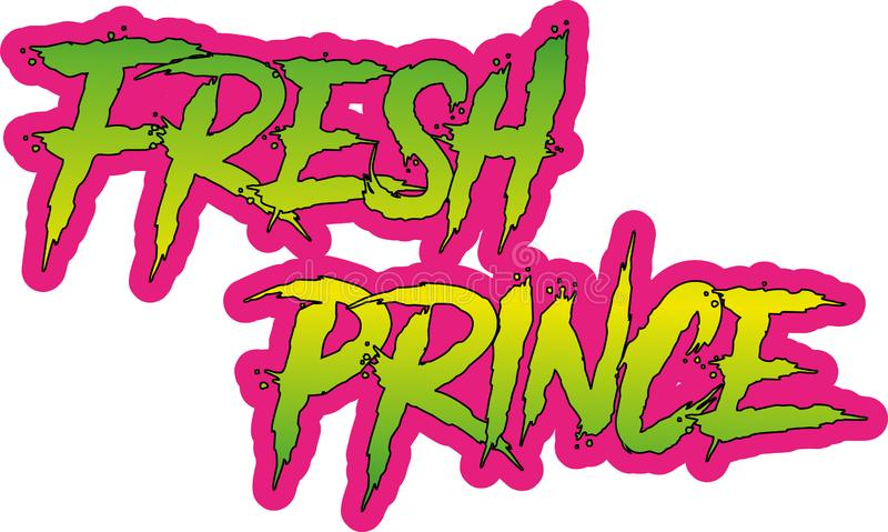 Fresh Prince Themed Drama Text with Eps Vector image. Specially used for tshirt designing royalty free illustration