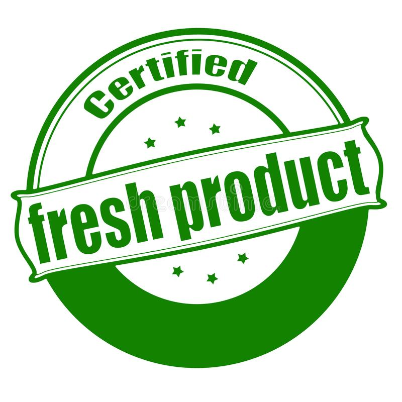 Fresh product. Stamp with text fresh product inside, illustration vector illustration