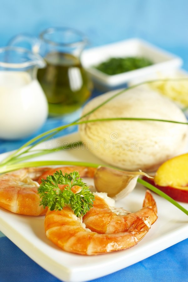 Download Fresh Products On Blue Cloth For Meal Preparation Stock Image - Image: 6215539