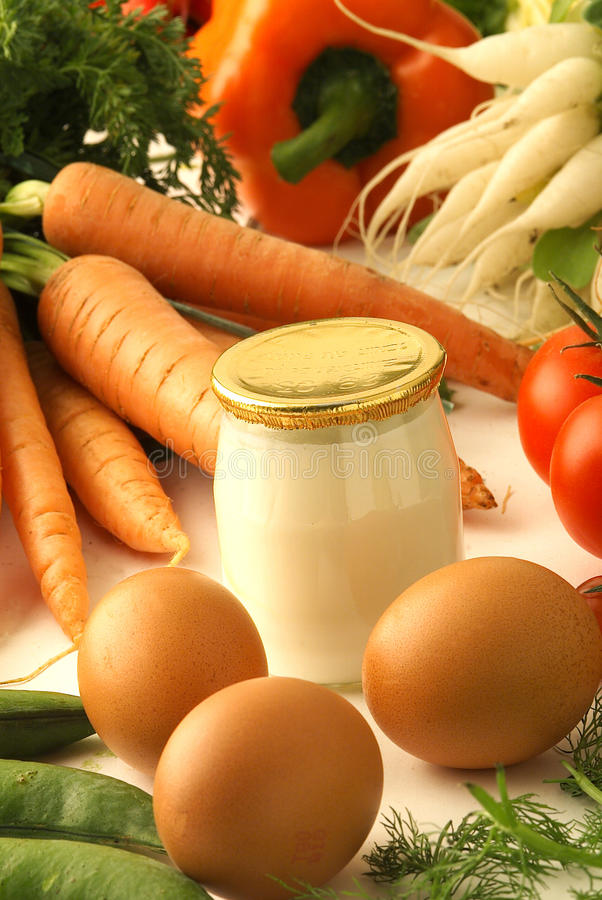 Download Fresh Products And Yoghurt Stock Image - Image: 23702901