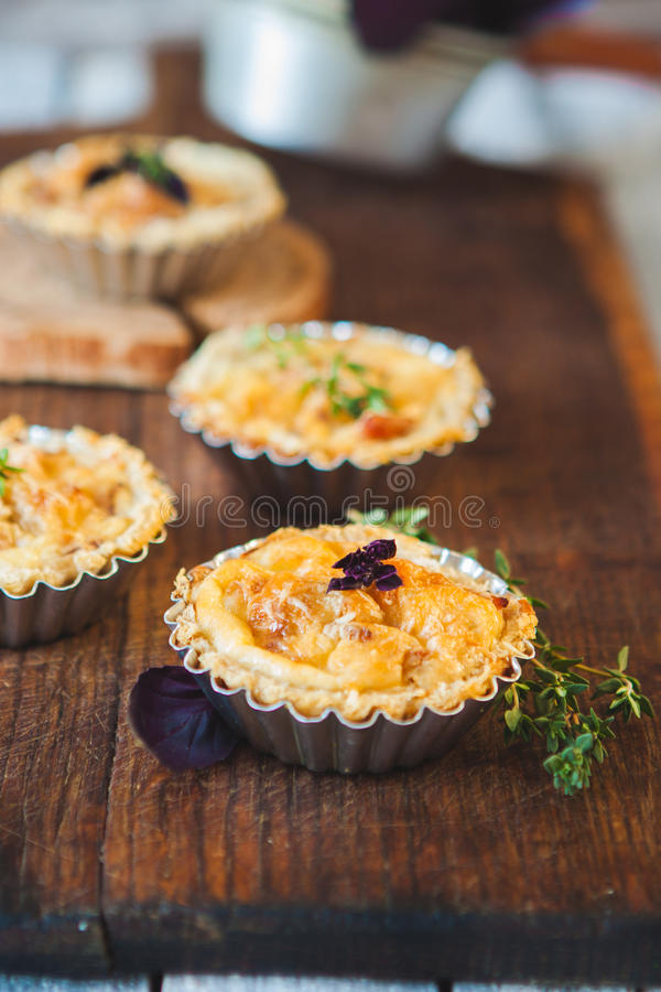 Download Fresh Quiche lorraine stock photo. Image of golden, meal - 83709488