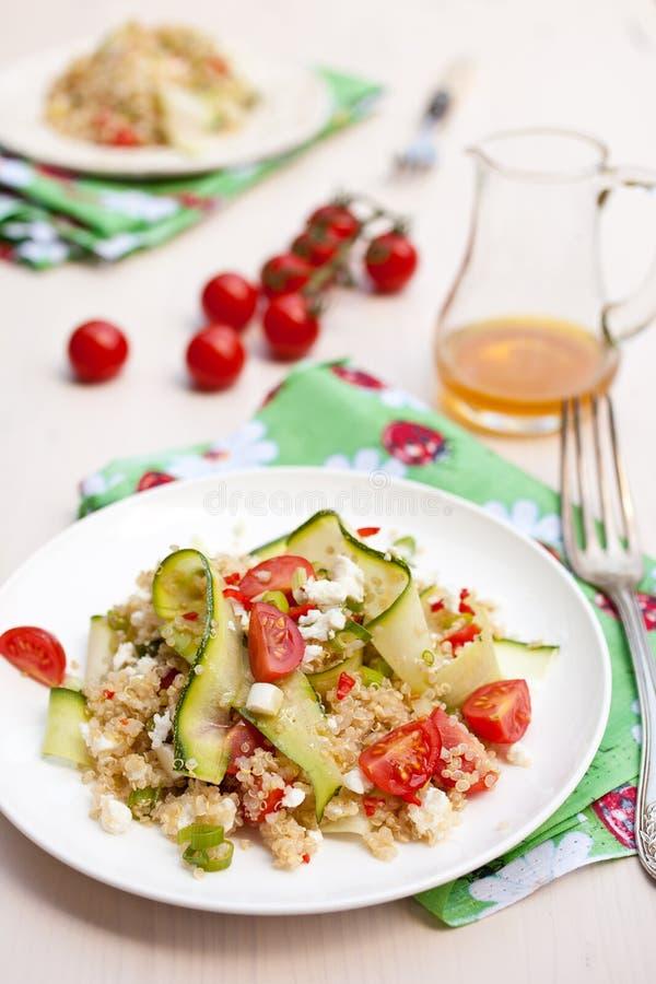 Fresh quinoa salad with tomatoes royalty free stock photos