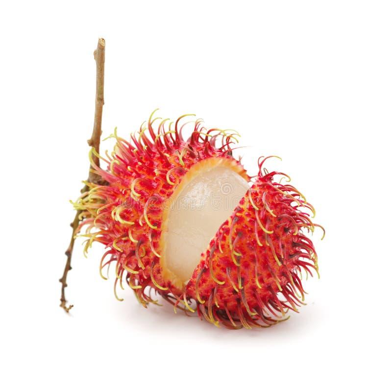 Fresh Rambutan. Isolated on white background stock photos