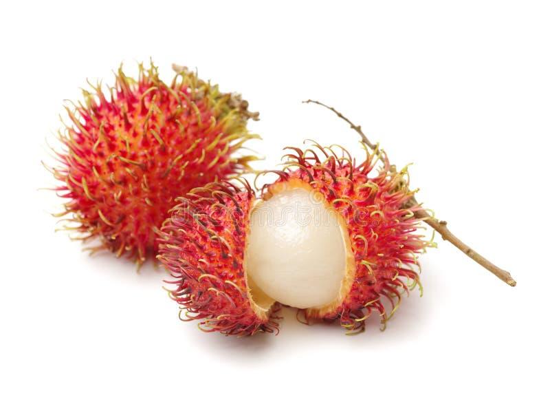 Fresh Rambutan. Isolated on white background royalty free stock image