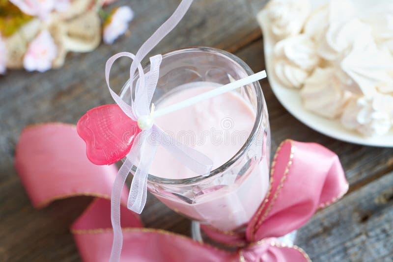 Fresh raspberry smoothie stock photos