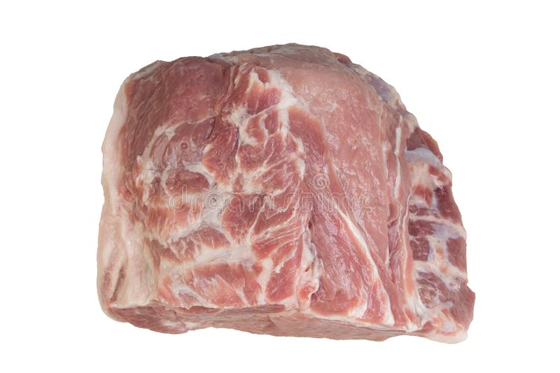 Fresh raw beef steak isolated on white background. Fresh raw meat. top view. stock photo
