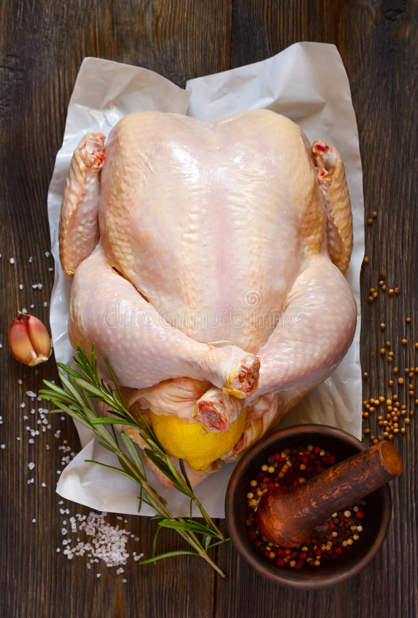 Fresh raw chicken. stock images