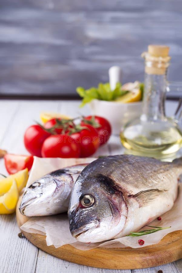 Fresh raw fish stock photography