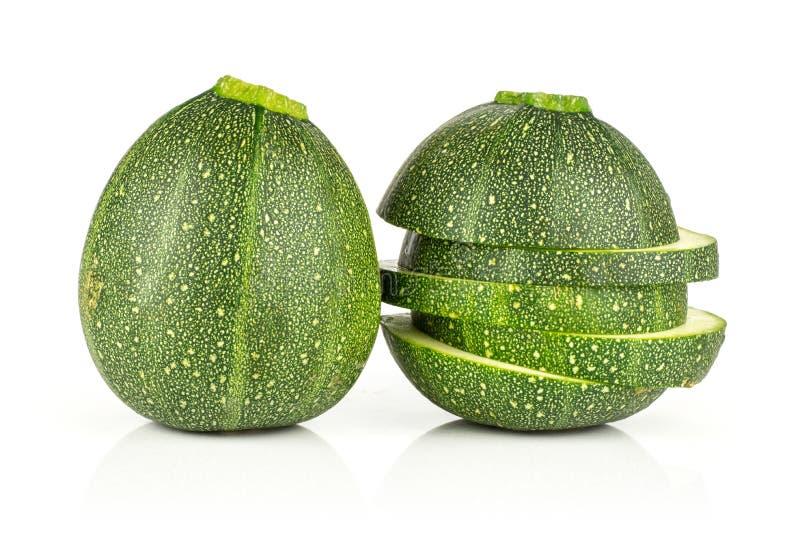 Fresh Raw Round Zucchini Isolated On White Stock Image ...