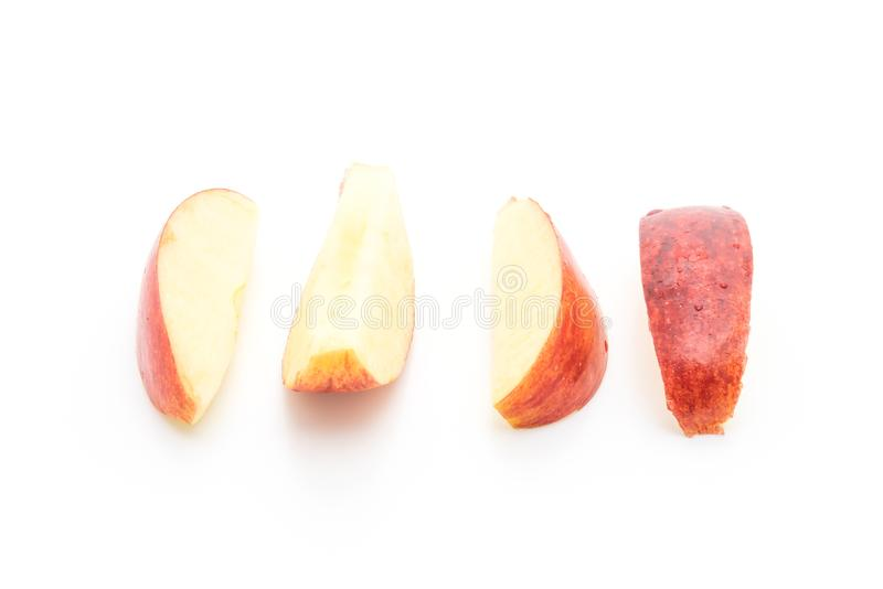 fresh red apples sliced stock images