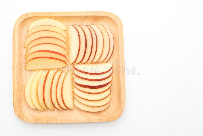 fresh red apples sliced royalty free stock photography