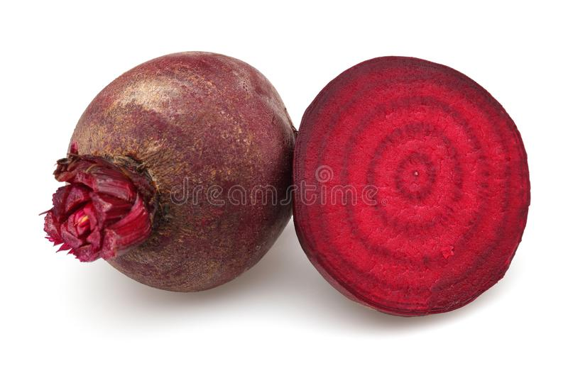 Fresh red beet roots isolated on white. Background stock images