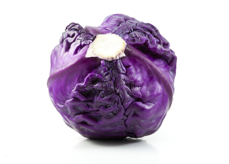 Fresh Red Cabbage Isolated royalty free stock photos