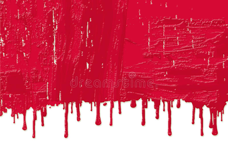 Fresh Red Paint Royalty Free Stock Photos