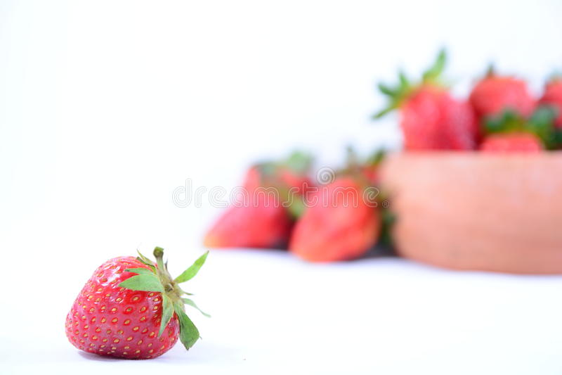 Fresh red ripe strawberries royalty free stock image