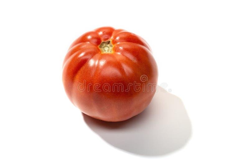 Fresh red tomato isolated. On white background stock photos