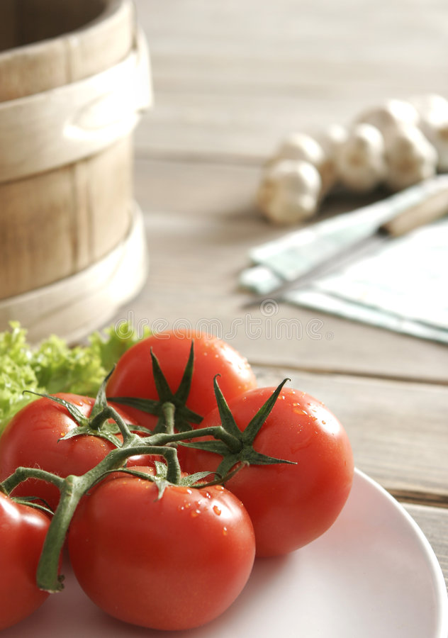Download Fresh red tomatoes stock photo. Image of wooden, cloth - 8960682
