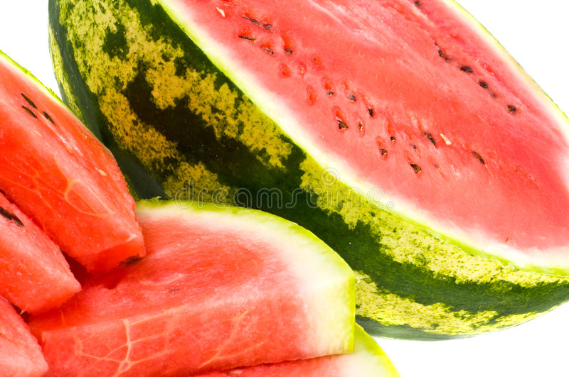 Fresh red water-melon stock images