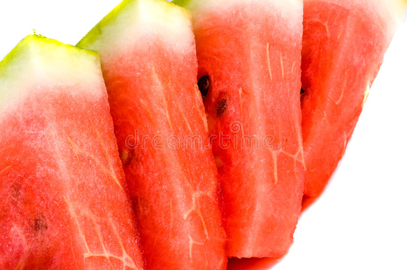 Fresh red water-melon stock photo