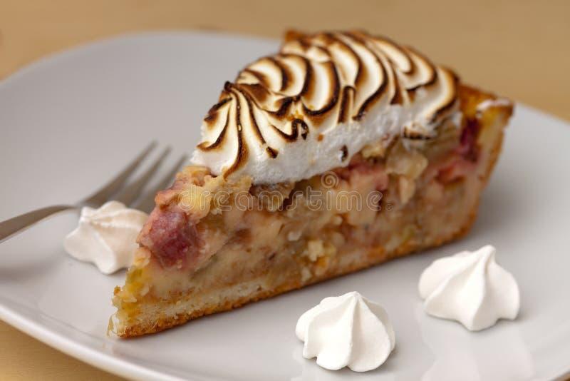 Fresh rhubarb cake stock photos