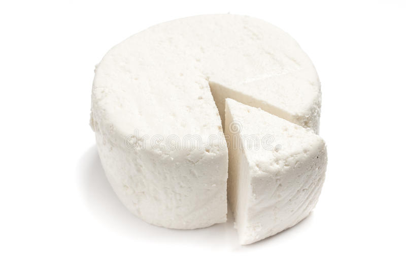 Fresh Ricotta cheese royalty free stock image