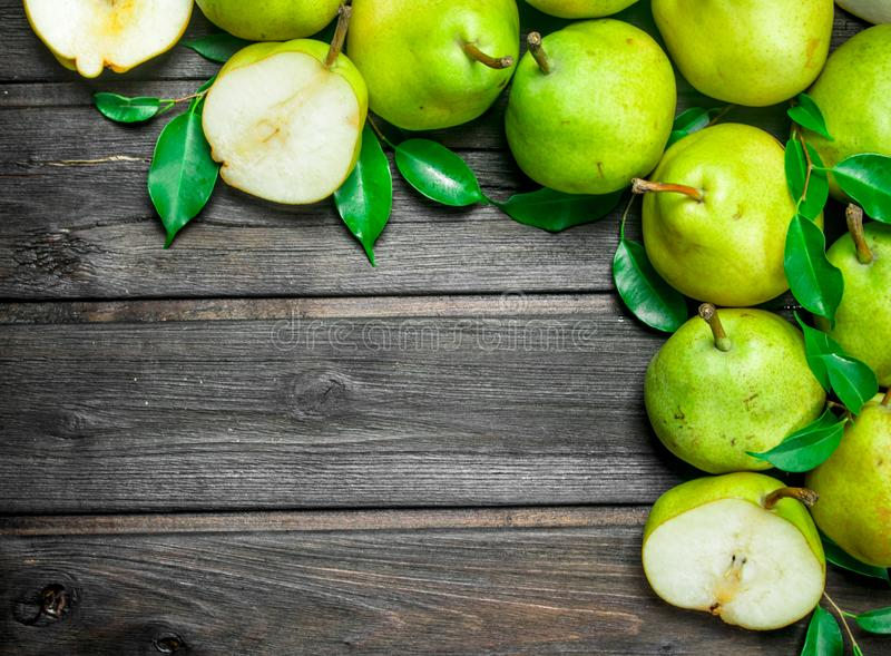 Fresh ripe pears stock images