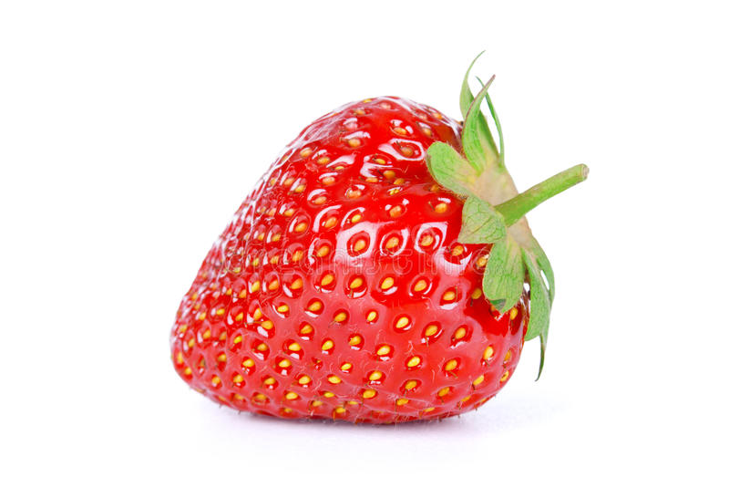 Fresh ripe strawberry isolated stock photo