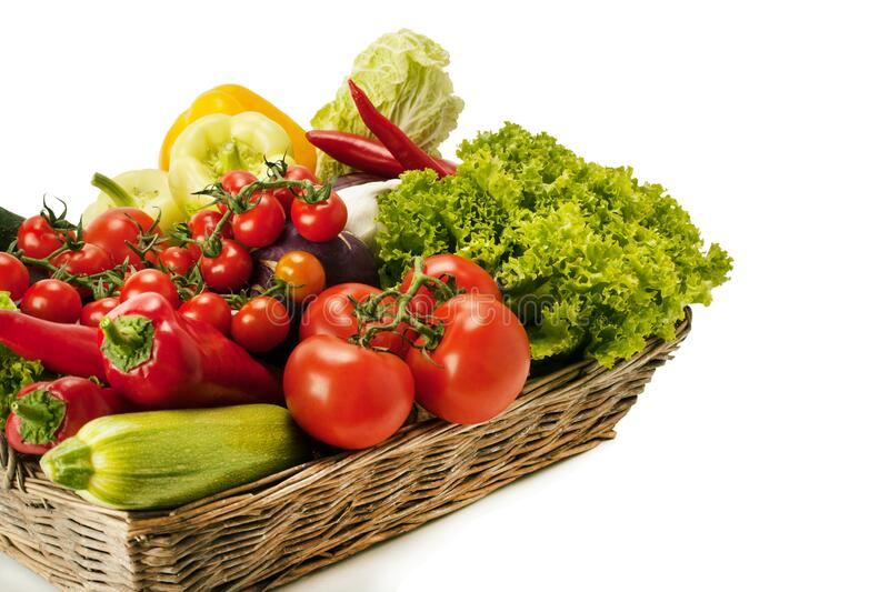 Fresh and ripe vegetables stock images