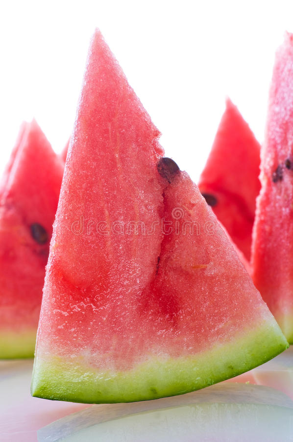 Fresh ripe watermelon stock photography