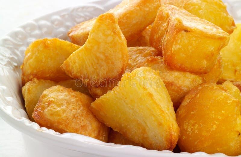 Fresh roast potatoes royalty free stock photo