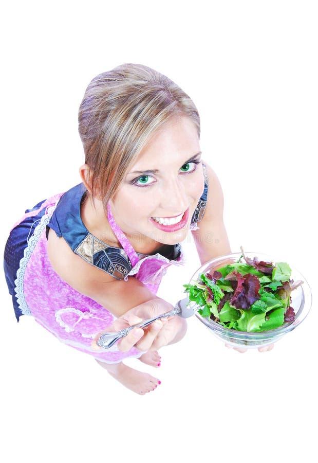 Download Fresh salad stock image. Image of face, joyful, holding - 14859567