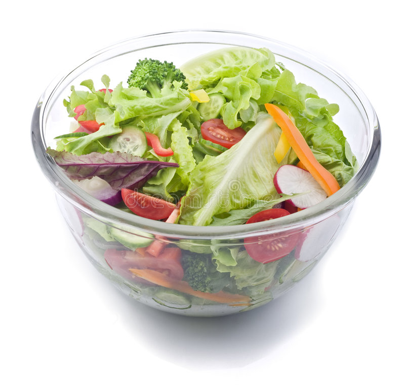 Download Fresh salad bowl stock photo. Image of dieting, healthy - 7660964