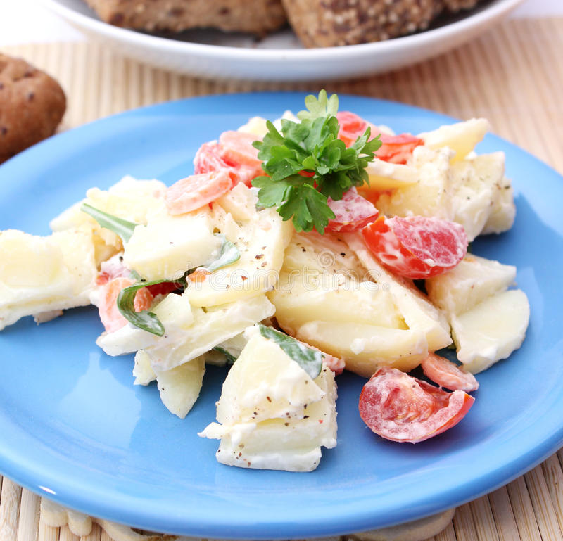 Free Fresh Salad Of Potatoes Royalty Free Stock Photo - 18188835