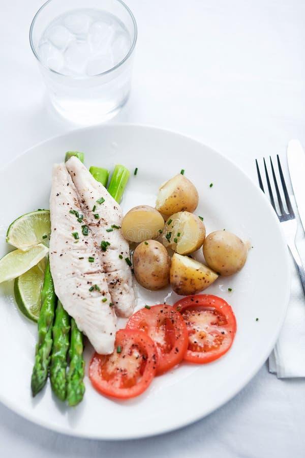 Download Fresh Salad With Olives, Prawns, Lemons And Sauce Stock Image - Image: 23662681