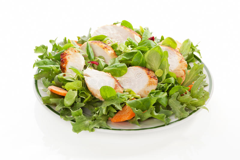 Fresh salad on plate. stock photo