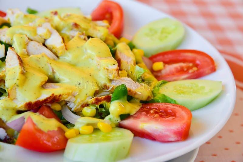 Fresh salad plate closeup stock photography