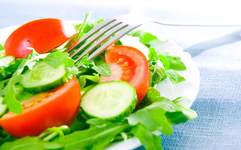 Download Fresh Salad With Tomatoes, Rucola Stock Photo - Image: 25480522
