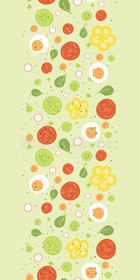 Download Fresh Salad Vertical Seamless Pattern Background Stock Vector - Image: 34405902