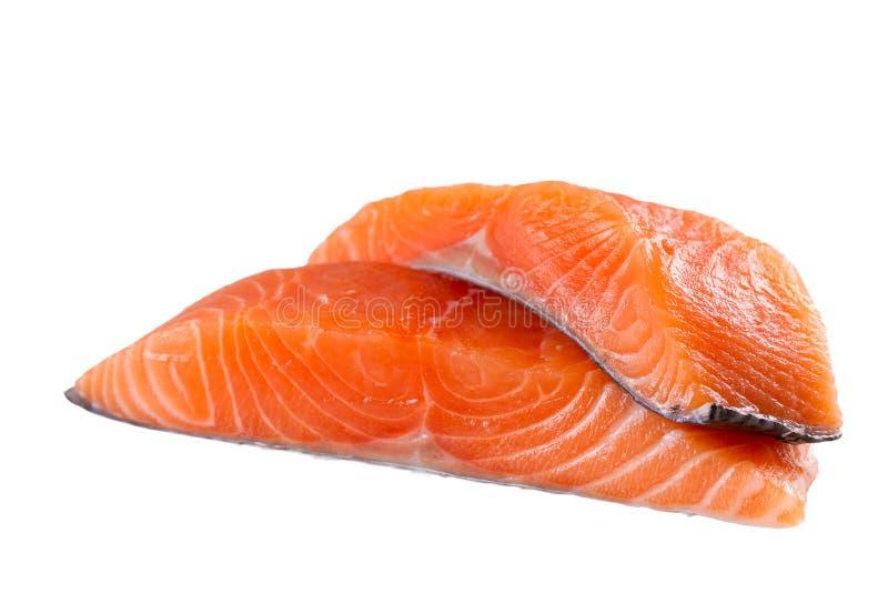 Fresh salmon fish isolated on white background without shadow - Image. royalty free stock photo