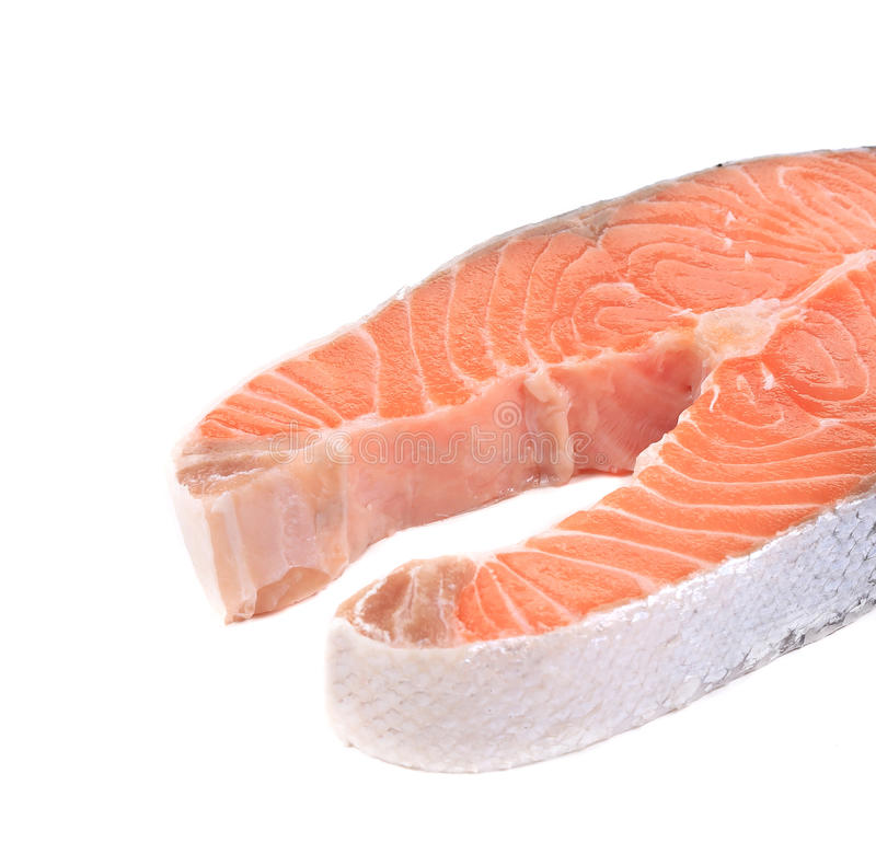 Download Fresh salmon steak. stock photo. Image of fresh, background - 38458954