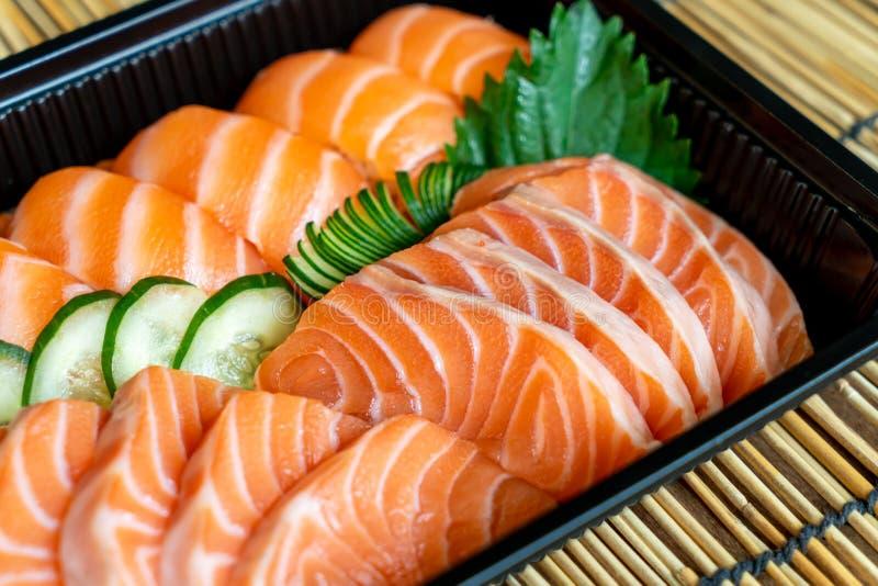fresh salmon are sushi and sashimi stock photos
