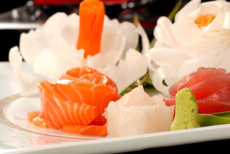 Download Fresh Salmon And Tuna Sashimi Stock Photo - Image of food, white: 4595244