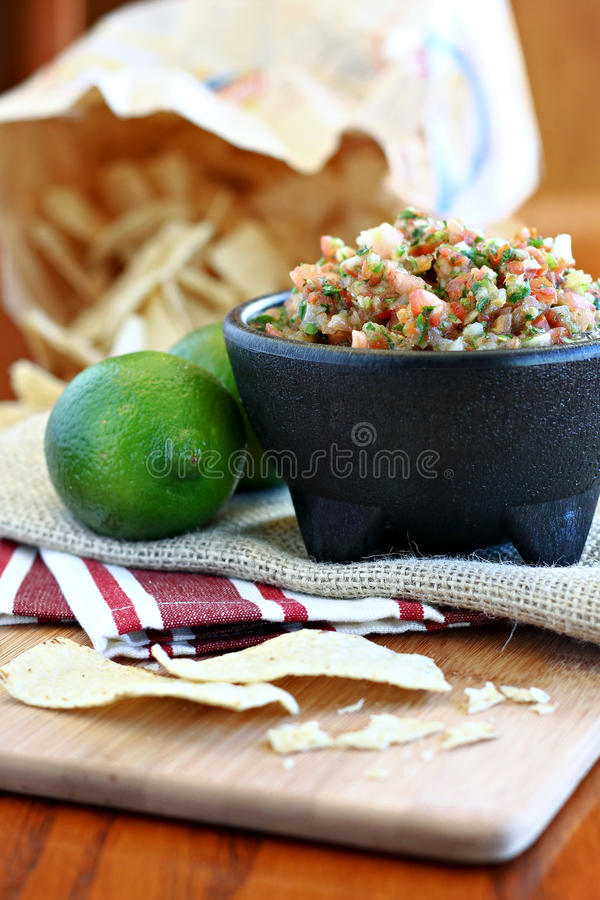 Download Fresh Salsa With Lime Royalty Free Stock Image - Image: 25297286