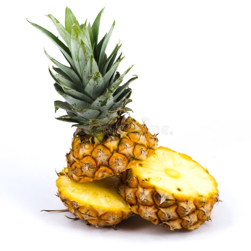 Fresh sclie pineapple. Fresh slice pineapple on white background stock photography