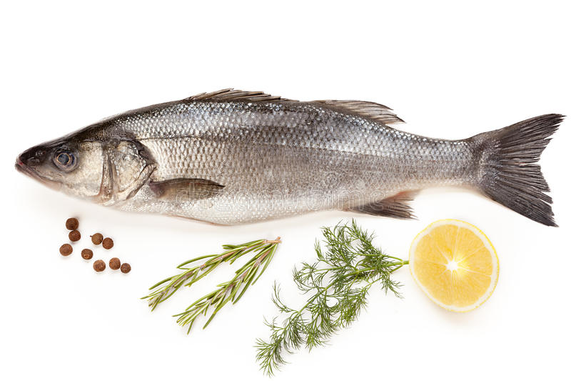 Download Fresh sea bass stock photo. Image of food, market, eating - 29085510