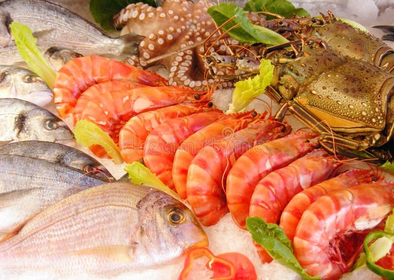 Fresh seafood stock image