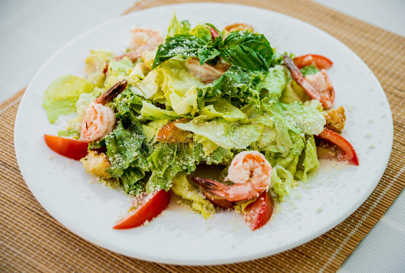 Fresh seafood salad stock photos