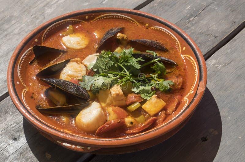 Fresh Seafood Stew #2 royalty free stock photos